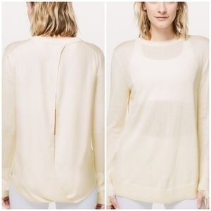 NWT Lululemon Still At Ease Pullover ANGEL WING